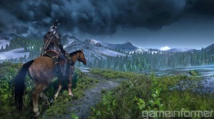 Horses, mountains, and the landscape of a fantasy kingdom definitely brings back memories of Skyrim.